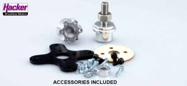 Hacker A50 16L V4 kv265 brushless motor accessories