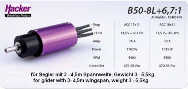 B50-8L+6.7_1 Brushless inrunner motor