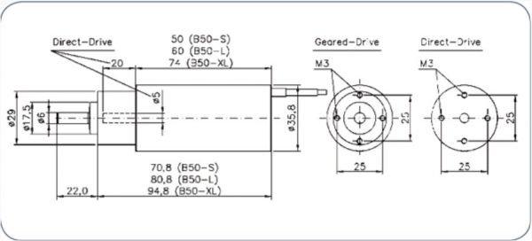B50-8L+6.7:1 Brushless inrunner motor