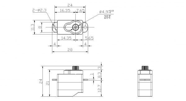 Hacker DITEX EL0106M digital servo construction drawing