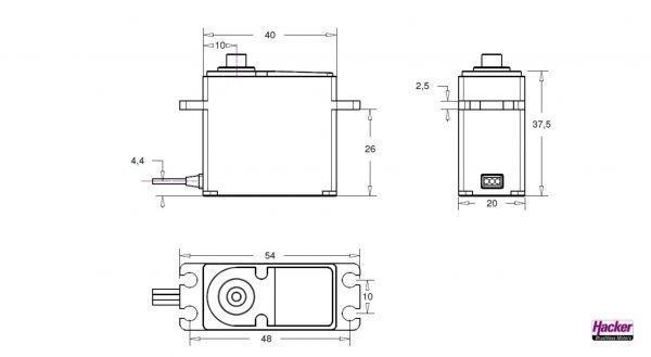 Hacker DITEX EL2114S digital servo construction drawing