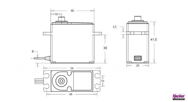 Hacker DITEX EL3214S digital servo construction drawing