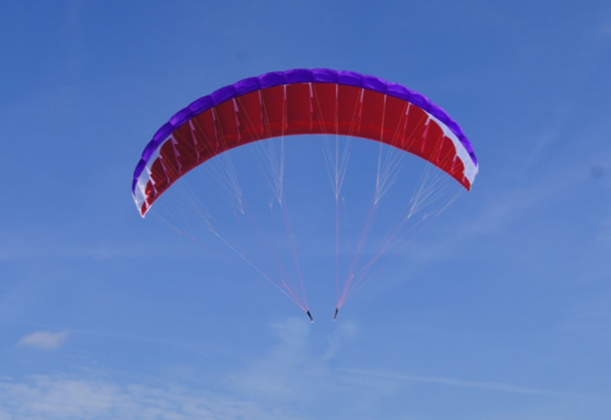 "Para-RC Paraglider ""RC-FLAIR 4.5"" - violet / white / red"