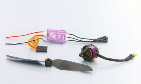 Hacker Skyfighter model airplane components