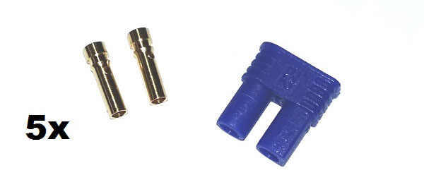 EC2 Gold Connector Set Female 2mm (5pcs. each)