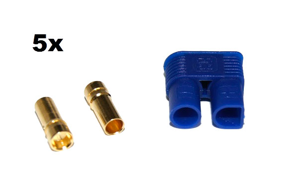 EC3 Gold Connector Set Female 3.5mm (5pcs. each)