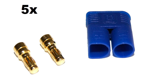 EC3 Gold Connector Set Male 3.5mm (5pcs. each)