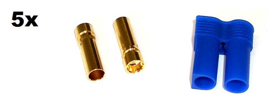 EC5 Gold Connector Set Female 5mm (5pcs. each)