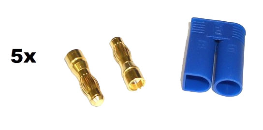 EC5 Gold Connector Set Male 5mm (5pcs. each)