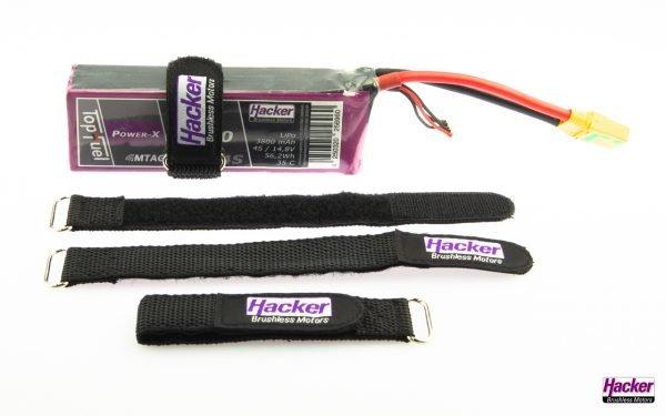 Hacker rubberized Velcro straps - 1x7.87 in. (25x200mm) - 4pcs.