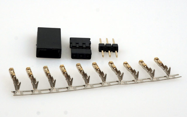 JR servo connector (couplings) including crimp contacts