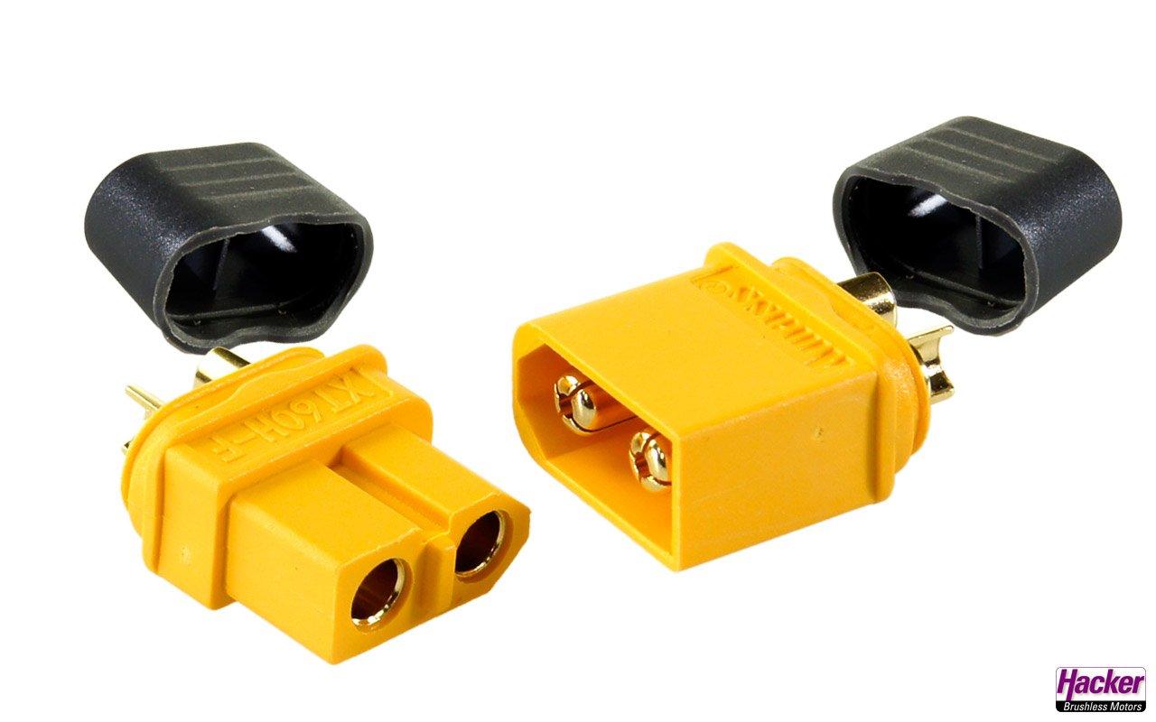 XT60+ plugs & sockets (2 pairs)