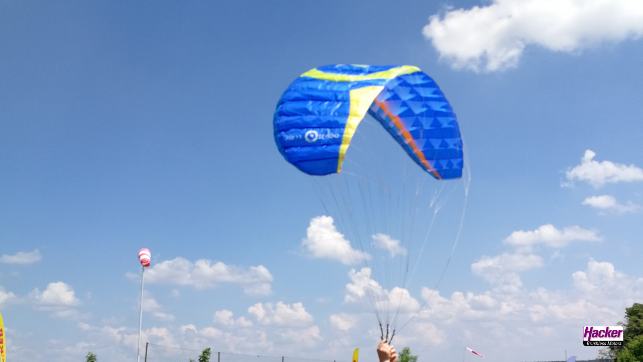 "Para-RC paraglider ""Dudek S-Lite 1.5"" blue / yellow"
