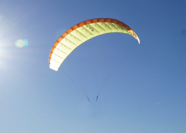 "Para-RC paraglider ""RC-FLAIR 4.5"" - orange / white / lime"