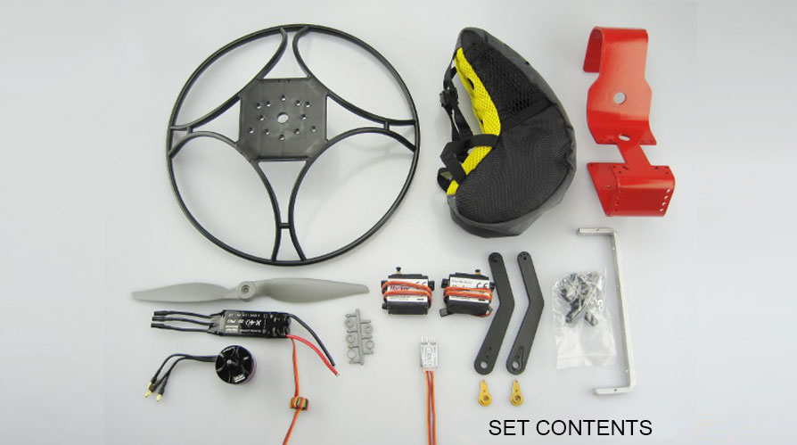 Para-RC Backpack Set S EVO