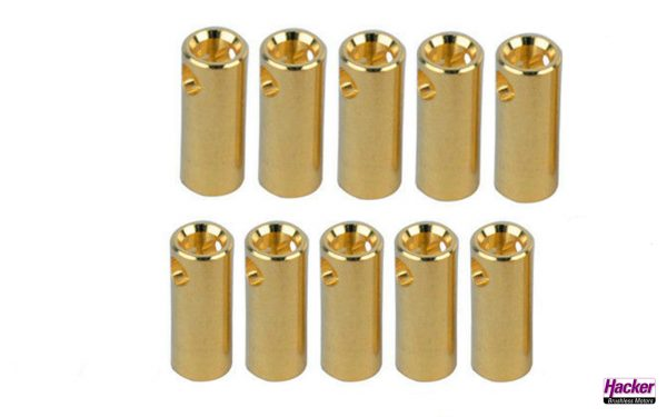 Gold connector female 5.5mm