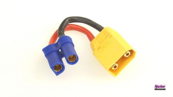 Adapter cable XT90 plug to EC5 socket