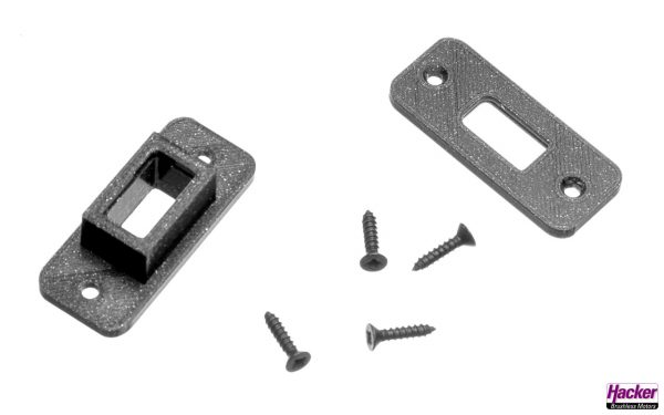 Installation frame for XT60 plugs and sockets