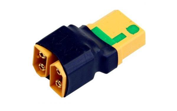 Short adapter XT60 2x battery serial to XT90AS