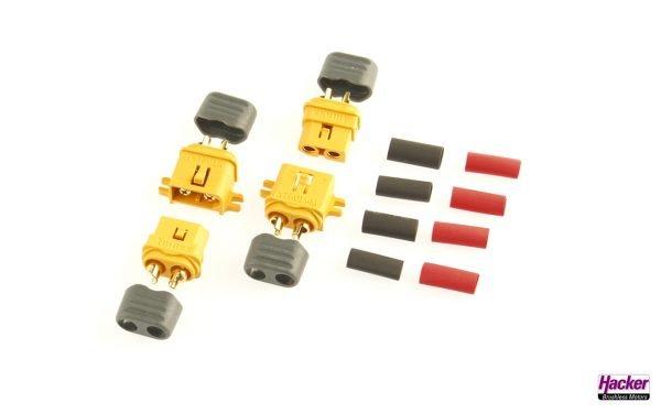 XT60L plugs & sockets (2 pairs)